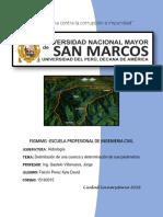 Informe de Delimitación y Parámetros de Una Cuenca