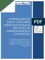 5 FACTORES ESENCIALES PARA UN PROYECTO DE  EMPRENDIMIENTO