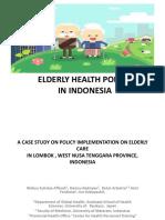 Elderly Health Policy Minute