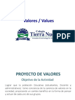 Propuesta Valores 2017