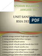 Laporan Bulanan Unit Sanitasi