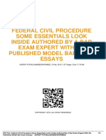ID795254d84-federal civil procedure some essentials look inside authored by a bar exam expert with six published model bar exam essays