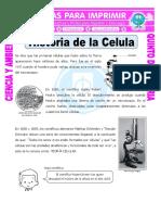 Ficha Historia de La Celula Para Quinto de Primaria
