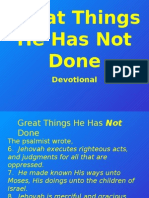 Great Things He Has Not Done (Devotional)