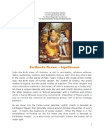 Kartheeka Masam - Significance