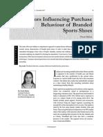 Factors Influencing Shoe Purchase
