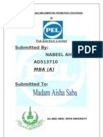 Marketing Assignment (PEL)