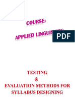 Evaluation and Testing