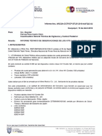 Informe Técnico de Observaciones Arcsa