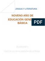 Plan de Clases Lengua y Literatura 9no EXCELENTE