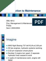 Intro to Maintenance
