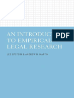 Lee Epstein & Andrew D. Martin - An Introduction to Empirical Legal Research-Oxford University Press (2014)