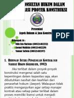 Kel 14 Peran Konstruksi Hukum Dalam Administrasi Proyek Konstruksi