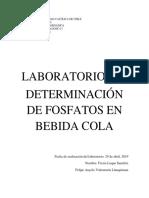 Informe de Laboratorio - Determinación de fosfatos en bebidas