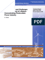 Opportunities and Challenges for Development of a Mature Concentrating Photovoltaic Power Industry