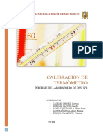 Calibracion de Termometro
