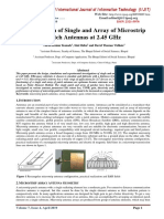 Investigation of Single and Array of Microstrip Patch Antennas at 2.45 GHz