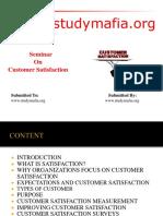MBA Customer Satisfaction PPT