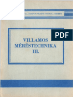 Major Mersichné Nagy dr Papné Szlávikné Téglásné Villamos Méréstechnika III