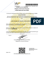 Certificado de Solteria