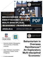Behaviourism in Overseas Remittances?