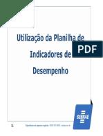 SEBRAE - Utilização de Planilhas de Indicadores de Desempenho