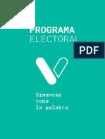 Programa Electoral Simancas Toma La Palabra 2019