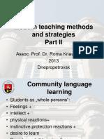 Modern Teaching Methods and Strategies II