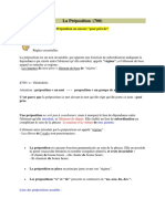 La Préposition