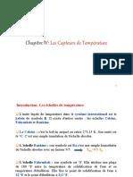 Chap IV Les Capteurs de Température