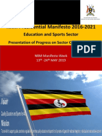 Ministry of Education and Sports Presentation - Manifesto Week 2019