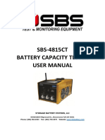 SBS 4815CT Capacity Tester Users Manual