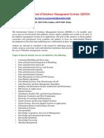 International Journal of Database Management Systems (IJDMS)