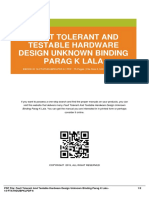 ID5b9b82a5f-fault tolerant and testable hardware design unknown binding parag k lala