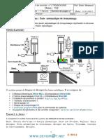 Devoir de Contrôle N°1 - Technologie - Poste automatique de tronçonnage - 1ère AS  (2013-2014) Mr Chokri Messaoud