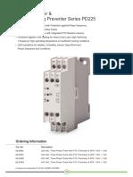 PTC Thermistor &Amp; Single Phasing Preventer Series PD 225 (1)