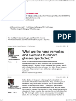 What Are the Home Remedies and Exercises to Remove Glasses(Spectacles)