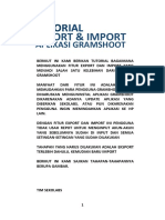 Tutorial Export Dan Import Gs