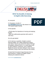 018 the Benefits of Listening to English While Exercising