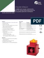 e2s Al105 Alarm Sounder Beacon Data Sheet