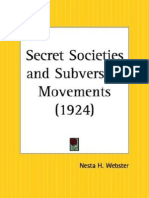 Nesta Webster Secret Societies and Subversive Movements 1924
