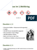 Giftgase Im ersten Weltkrieg