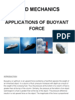 Applications of buoyant force