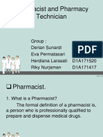 Pharmacist and Pharmacy Technician