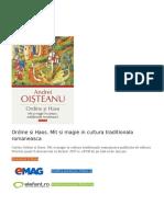Ordine si Haos. Mit si magie in cultura traditionala romaneasca PDF (Download eBook).pdf