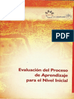 1.4.3 Evaluacion de Proceso de Aprendizaje. Educacion Inicial Año 2.004