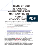 Arguments From Mathematics to Human Consciousness - Nelson