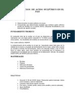 DETERMINACION  DE  ACIDO  SULFÚRICO EN EL PAN.docx