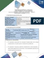 Guía de Actividades y Rúbrica de Evaluación - Tarea 4 - Sustentación Unidades 1, 2 o 3
