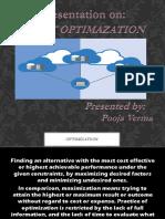 Presentation on Joint Optimization